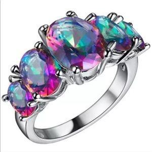 Colorful Crystal Ring (E24)